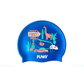 Funky Trunks Silicone Swimming Cap Men, wacky west